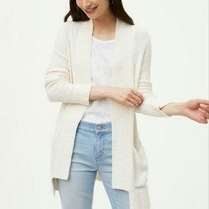 🆕 LOFT Textured Pocket Open Cardigan